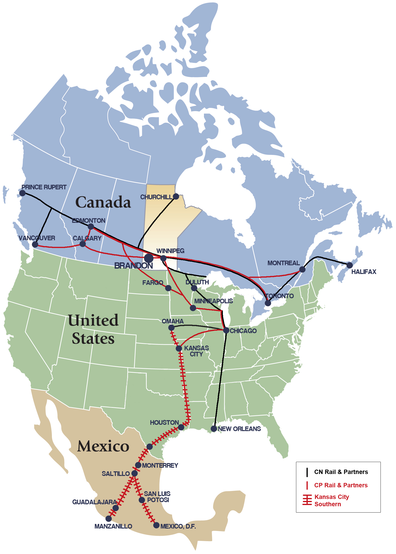 Rail Economic Development Brandon - Map-of-us-rail-network